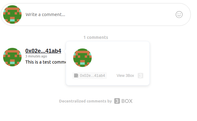 3Box comments with more features screenshot